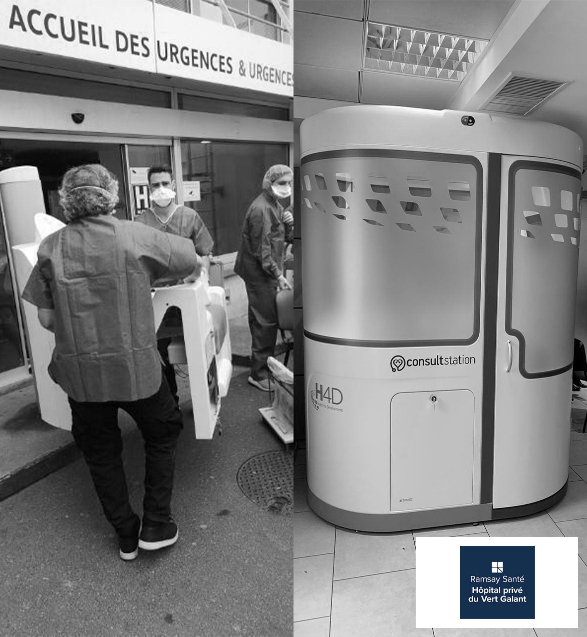 Installation Consult Station au Vert Galant